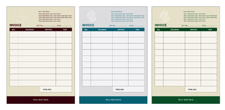 Invoice template royalty free illustration