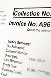 Invoice Royalty Free Stock Photos