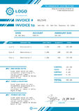 Invoice vector template design layout Stock Photo