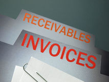 Invoices file Stock Image