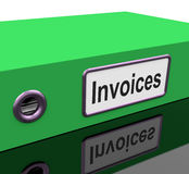 Invoices File Show Accounting And Expenses. Invoices File Shows Accounting And Expenses Royalty Free Stock Photography
