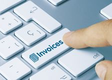 Free Invoices - Inscription On Blue Keyboard Key Royalty Free Stock Photo - 164420115
