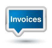 Invoices prime blue banner button Stock Photos