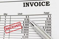 Invoiice Stock Photo