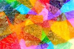 Involucri Colourful del dolce del cellofan fotografia stock