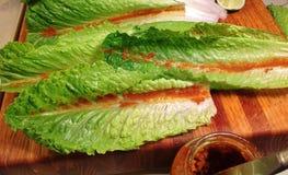 Involucri tailandesi di Lettice del gamberetto Immagini Stock