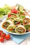 Involucro del panino con la verdura immagini stock