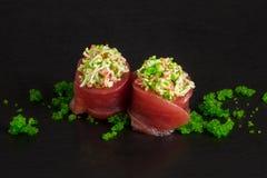 Involucro del tornado dei sushi Fotografia Stock