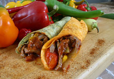 Involucro della verdura e della carne Fotografia Stock