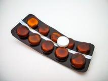 Involucro delle pillole delle medicine della droga fotografie stock