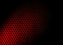 Involucro di bolla acceso da luce rossa Immagini Stock