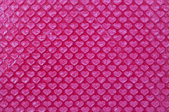 Involucro di bolla rosa di forma del cuore Immagine Stock