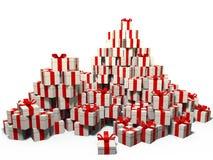 Involucro di regalo bianco Fotografia Stock