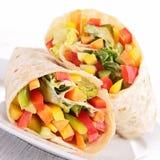Involucro di verdure del panino immagine stock