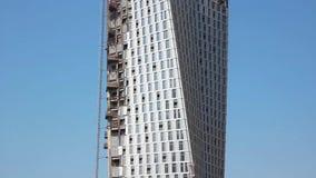 Involute skyscraper. Dubai Marina. United arab emirates stock footage