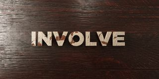 Involve - grungy wooden headline on Maple  - 3D rendered royalty free stock image Royalty Free Stock Images