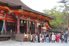 Invoquer les esprits (sanctuaire Yazaka Jinja - Κιότο - Japon) Στοκ φωτογραφία με δικαίωμα ελεύθερης χρήσης