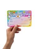 invotation urodzinowy. Zdjęcie Stock