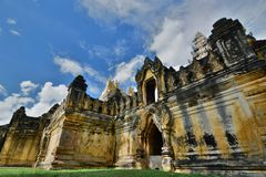 Maha Aungmye Bonzan monastery. Inwa. Mandalay region. Myanmar. Inwa or Ava is an ancient imperial capital of successive Burmese kingdoms from the 14th to 19th royalty free stock image