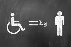 Inwalidzka równość obrazy stock