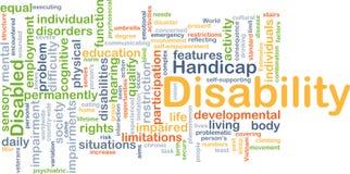 Inwalidzki tła pojęcie Fotografia Stock