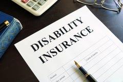 Inwalidzki ubezpieczenie zdjęcie stock