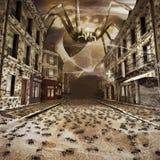Inwazja pająki ilustracja wektor