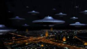 Inwazyjna beletrystyczna obcego ufo fantazja ilustracji