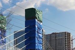 inwentarzowy formwork dla zbrojonego betonu dla budowy mostów poparcia na przewiezionej wymianie Zdjęcia Stock
