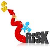 inwestorski ryzyko Obrazy Stock