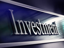 Inwestorski słowo, robi inwestycjom bank fasada, Fotografia Royalty Free