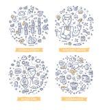 Inwestorskie Doodle ilustracje Zdjęcie Royalty Free