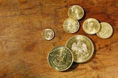 Inwestorskie złociste monety Zdjęcie Royalty Free