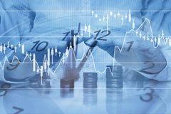 Inwestorskiej ochrony pojęcie, wzrostowy pieniądze kapitał, deponuje pieniądze zdjęcie royalty free