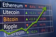 Inwestować i rynku papierów wartościowych pojęcia zysk Obrazy Stock
