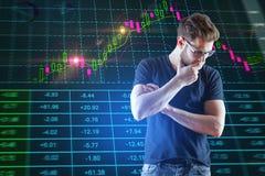 Inwestycja, makler i handlu pojęcie, zdjęcie royalty free