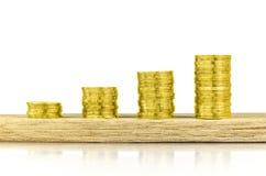 Inwestycja, pieniądze, interes i pieniężny pojęcie, Obrazy Stock