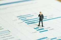 Inwestycja, pieniężnego występu raportu analizy pojęcie, minia zdjęcie stock