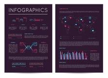 Inwestycja raport z różnorodnym infographics ilustracja wektor