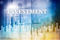 Inwestycja, ROI, rynku finansowego pojęcie podwójny narażenia obraz stock