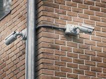 Inwigilaci kamera na fasadzie Zdjęcia Royalty Free