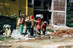 Inwoners van Nepal stock foto's
