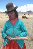 Inwoners van Peru stock foto