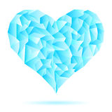 Iny-frost-icy-heart-isolated-on-white-background Stock Image