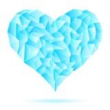 Iny-geada-gelado-coração-isolar-em-branco-fundo ilustração royalty free