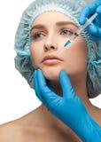 Inyección cosmética del botox Imagen de archivo libre de regalías