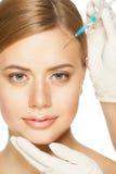 Inyección cosmética del botox Fotos de archivo