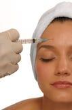 Inyección de Botox Imagen de archivo