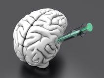 Inyección del cerebro Foto de archivo