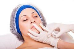 Inyecciones cosméticas de Botox del procedimiento foto de archivo